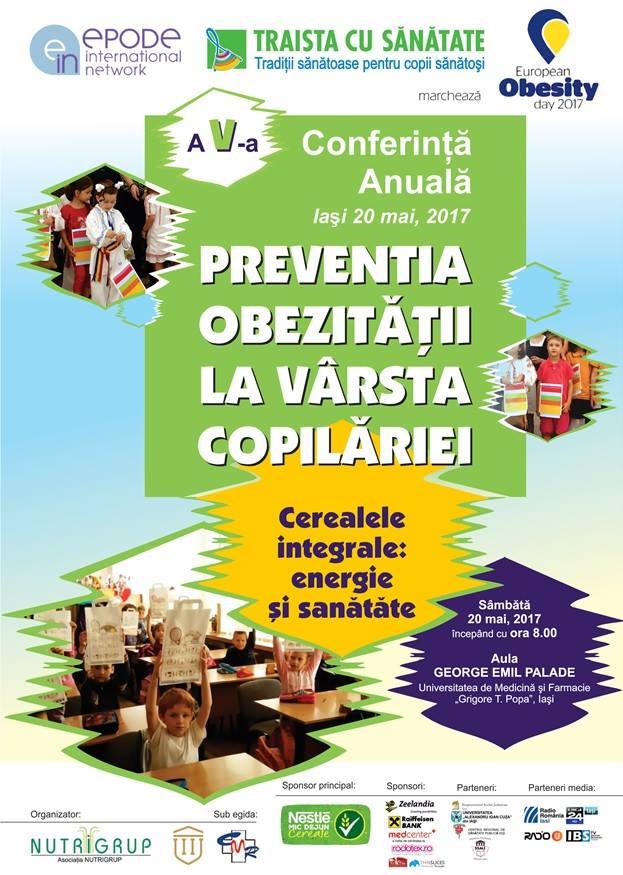 """Conferinţa """"Prevenţia obezităţii la vârsta copilăriei – Cerealele integrale: energie și sănătate"""""""