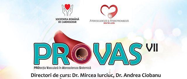 Curs PROVAS – Protecția Vasculară în Ateroscleroza Sistemică: Arad, 20 martie