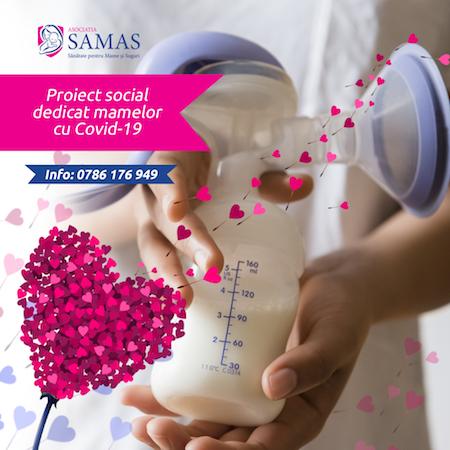 Asociația SAMAS lansează un program special pentru mame cu Covid-19 și bebelușii lor