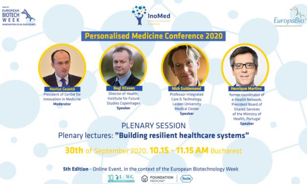 Conferința de Medicină Personalizată, ediția a V-a, are loc pe 30 septembrie