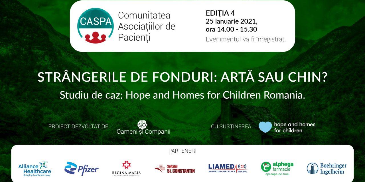 Cum transformăm strângerile de fonduri din chin în artă, aflăm la cea de-a patra întâlnire Caspa.ro