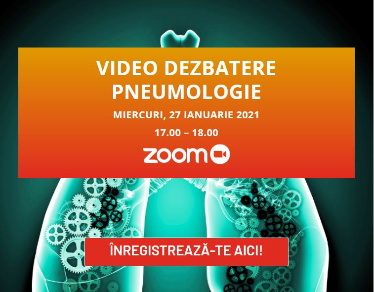 """Pe 27 ianuarie are loc dezbaterea video în pneumologie cu tema """"Afecțiunile respiratorii – terapii și soluții"""""""