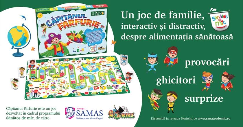 Asociația SAMAS lansează Căpitanul Farfurie un joc 2 în 1, despre alimentația sănătoasă