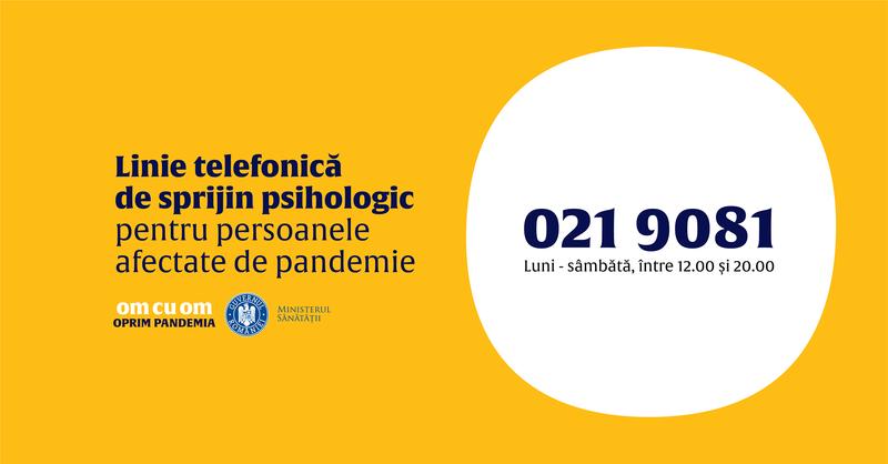 A fost lansat call-center-ul GRATUIT de suport psihologic pentru pacienții afectați de COVID