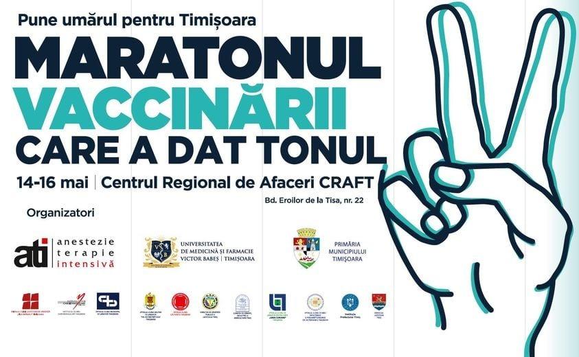 Screening al stării de sănătate a celor care vor veni la etapa a II -a a Maratonului Vaccinării de la Timișoara (14-17 mai)