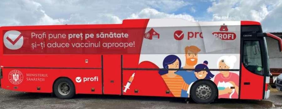 """Pornește la drum caravana """"Profi pune preț pe sănătate și îți aduce vaccinul aproape"""""""
