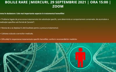 Cele mai importante aspecte în tratamentul hemofiliei – tema întâlnirii din septembrie a Comunității OSC – Boli Rare