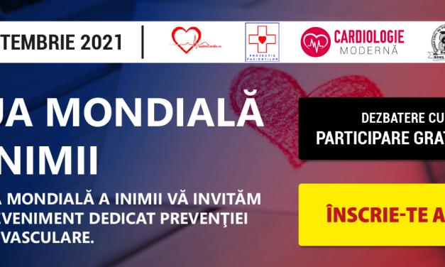 De Ziua Mondială a Inimii discutăm despre prevenția cardiovasculară la întâlnirea Comunității CardiologieModernă.ro