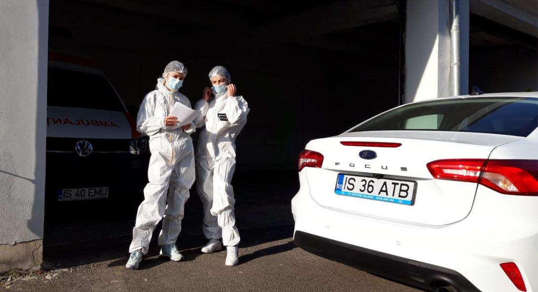 Angajaţi ai companiei Antibiotice, în sprijinul echipelor DSP